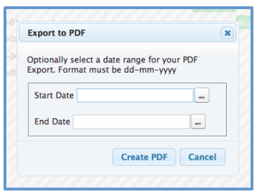 Mission Control Project Management Gantt Chart Export PDF Salesforce.com