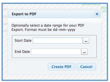 Mission Control Project Management Gantt Chart Export PDF Salesforce.com