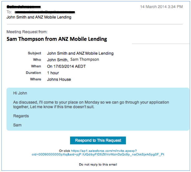 RightTrack ANZ Mobile Lender CRM System Salesforce.com Compass